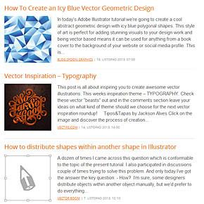 Aktualizovaný webový přehled článků o vektorové grafice
