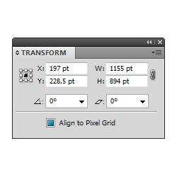Jak najít objekty s volbou Align to Pixel Grid