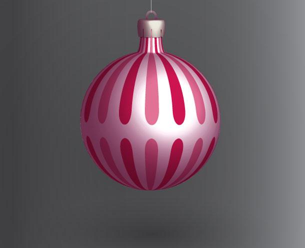 Postup na tvorbu vánoční baňky v Adobe Illustrátoru