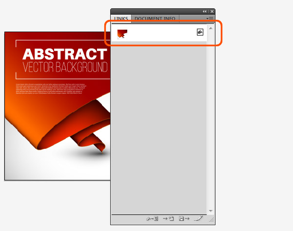 Detekce rastrové grafiky v ilustraci pomocí panelu Links