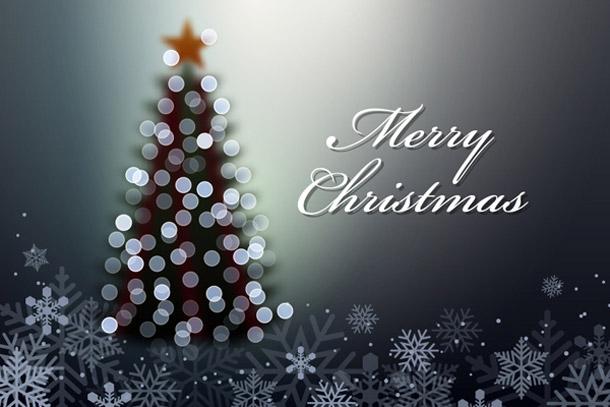 Tutoriál na tvorbu rozmazaného (nezaostřeného) vánočního stromečku se světly