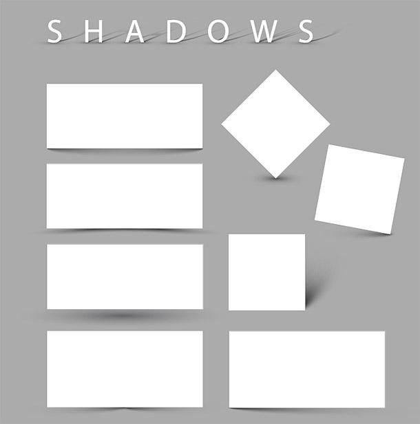 Nekruhové stíny vytvořené kruhovým gradientem