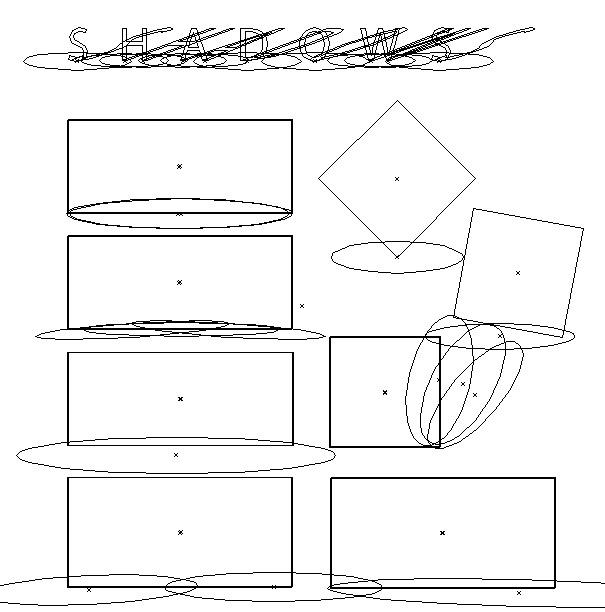 Nekruhové stíny vytvořené kruhovým gradientem - jak vypadají ve skutečnosti