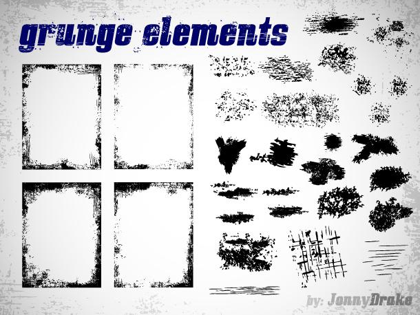 Grunge elementy zdarma ke stažení