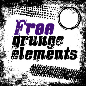 Grunge elementy a vzorky