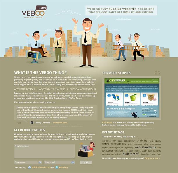 Ilustrace ve webdesignu