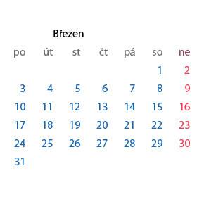 Plugin pro generování kalendáře