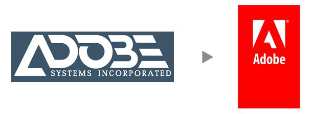 Změny Adobe loga