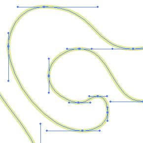 Kreslení přesné křivky pomocí horizontálních a vertikálních táhel