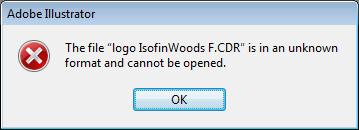Adobe Illustrátor má problém otevřít corelovský dokument