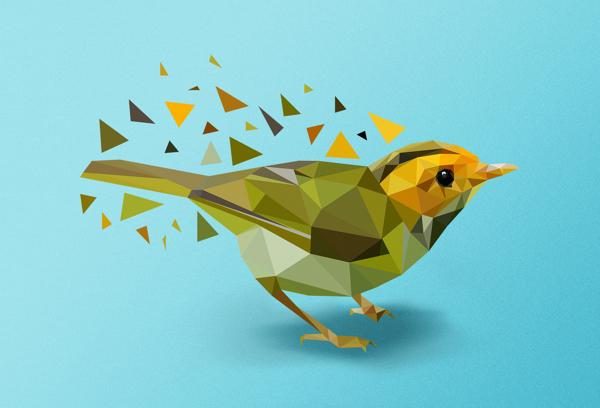 Ptáček z trojúhelníků