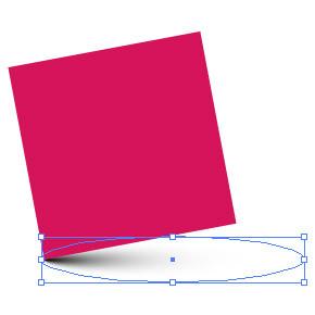 Vektorový stín pomocí kruhového gradientu