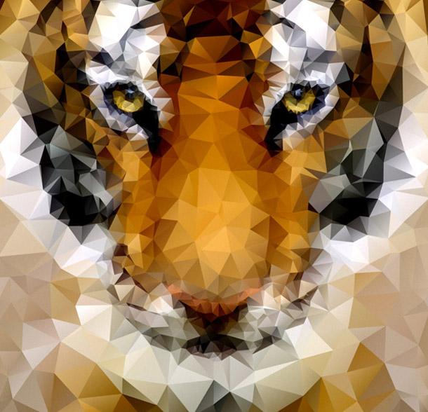 Tygr - low poly art