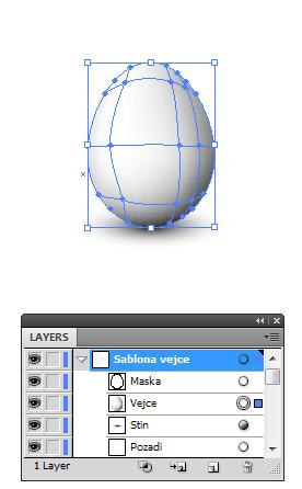 Šablona velikonočního vejce