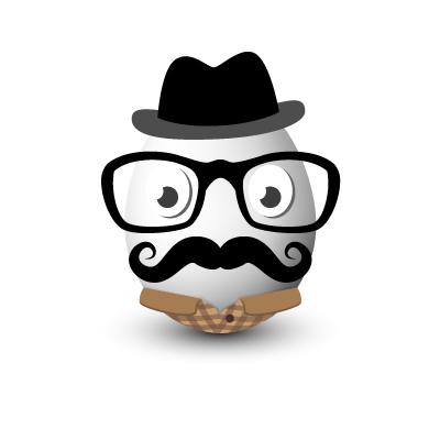 Hipster vejce