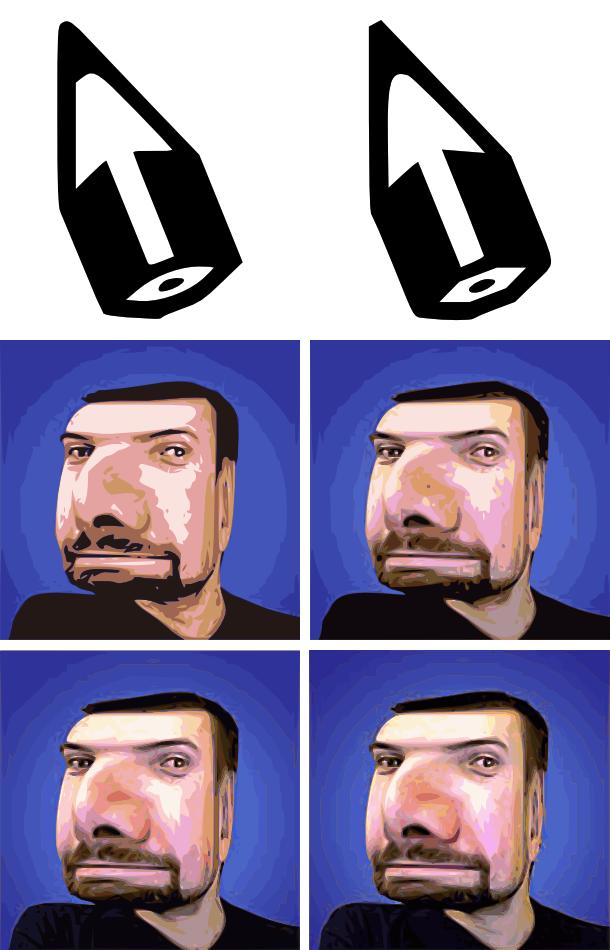 Výsledky vektorizace v Inkscape